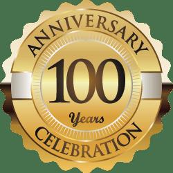 100 year anniversary badge